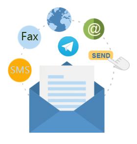 جوابدهی از طریق فکس، تلگرام و ایمیل